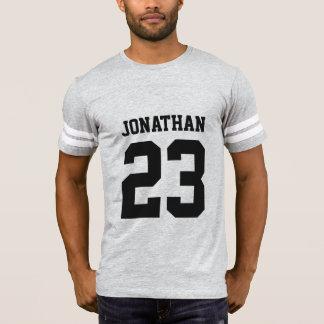 Custom Name Number Mens Sport Jersey T-Shirt