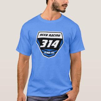 Custom Name Number Plate: Blue - Light Number T-Shirt