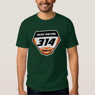 Custom Name Number Plate: Orange - Dark Number T-shirts