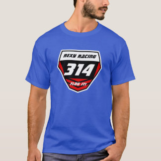 Custom Name Number Plate: Red - Light Number T-Shirt