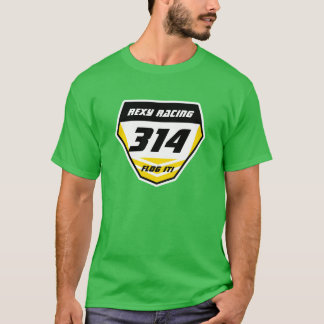 Custom Name Number Plate: Yellow - Dark Number T-Shirt