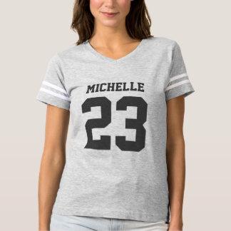 Custom Name Number Womens Sport Jersey T-Shirt