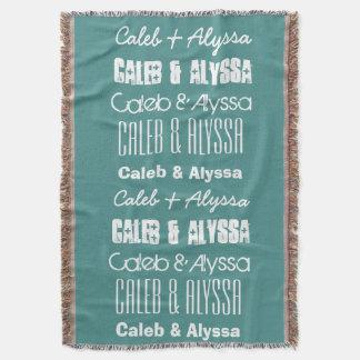 Custom Name or Names or Custom Saying A11A Throw Blanket