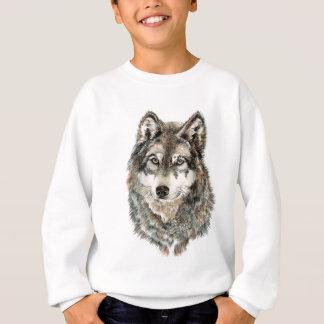 Custom Name or Text Wolf watercolor Animal Sweatshirt