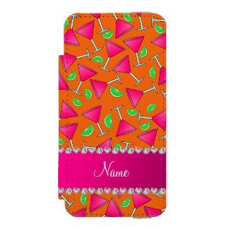 Custom name orange pink cosmos limes incipio watson™ iPhone 5 wallet case