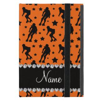 Custom name orange roller derby stars iPad mini covers