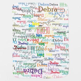 custom name, personalized & colorful pramblanket