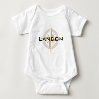 Custom Name Personalized Travel Compass Baby Bodysuit