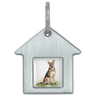 Custom Name Pet Tag German Shepherd Dog