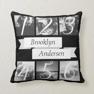 Custom Name Photo Create Your Own Throw Cushions