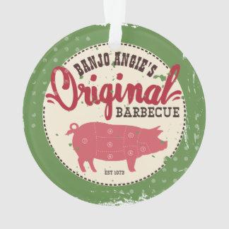 Custom name pig pork meat BBQ Christmas ornament
