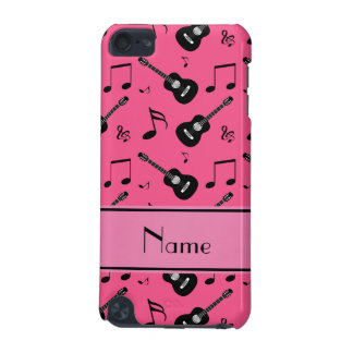 Custom name pink black guitars music notes iPod touch (5th generation) cases