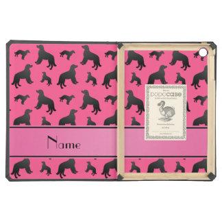 Custom name pink flat coated retriever dogs iPad air case