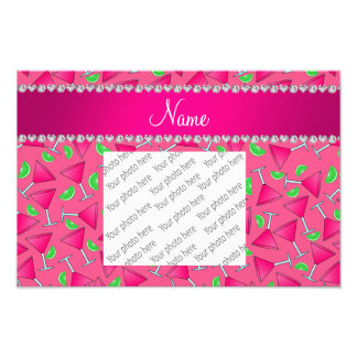 Custom name pink on pink cosmos limes art photo
