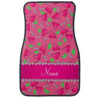 Custom name pink on pink cosmos limes car mat
