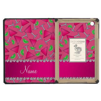 Custom name pink on pink cosmos limes iPad mini retina cases