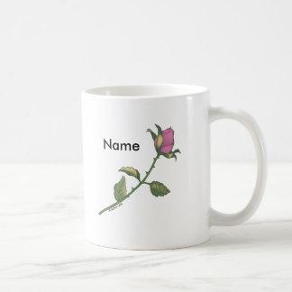 Custom Name Pink Rose Coffee Mug