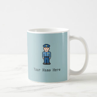 Custom Name Pixel Cop Coffee Mug