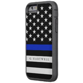 Custom Name Police Flag Tough Xtreme iPhone 6 Case