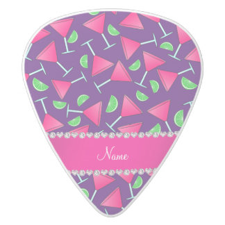 Custom name purple pink cosmos limes white delrin guitar pick