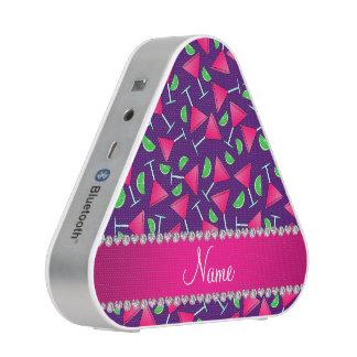 Custom name purple pink cosmos limes bluetooth speaker