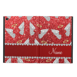 Custom name red glitter angel wings powis iPad air 2 case