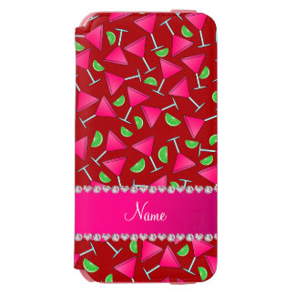 Custom name red pink cosmos limes incipio watson™ iPhone 6 wallet case