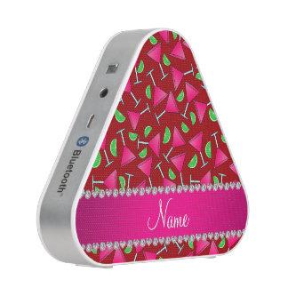 Custom name red pink cosmos limes bluetooth speaker