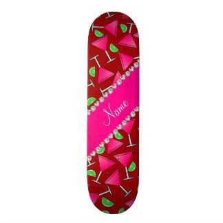Custom name red pink cosmos limes skateboard decks