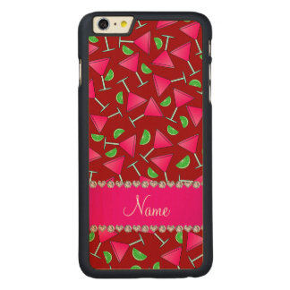 Custom name red pink cosmos limes carved® maple iPhone 6 plus slim case