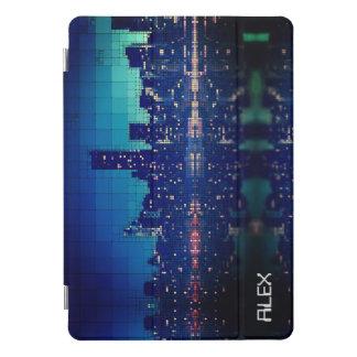 Custom Name Retro Pixel 80s City Skyline Ipad Case