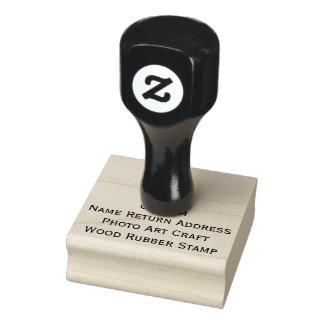 Custom Name Return Address Photo Art Craft Wood Rubber Stamp