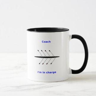 Custom name rowing coach 2-sided mug