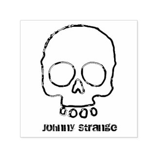 Custom Name Skull Ink Stamp