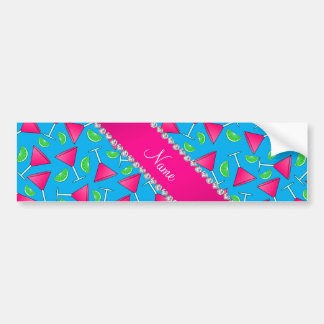 Custom name sky blue pink cosmos limes bumper sticker
