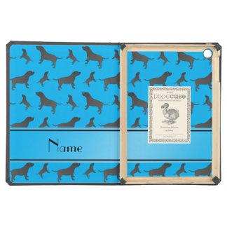 Custom name sky blue Staffordshire Terrier dogs iPad Air Case