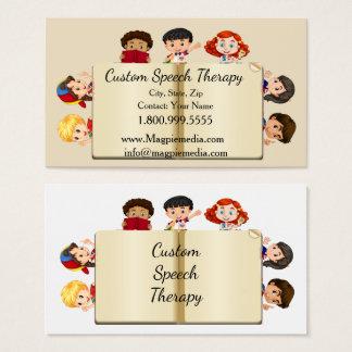 Custom Name Speech Therapy Kids Cartoon Business Card