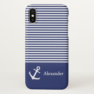 Custom Name Striped Nautical Smartphone Case