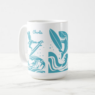 Custom Name Surfer mugs