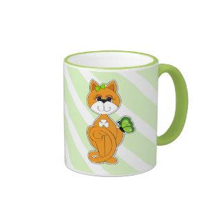 Custom Name Sweet Kitty St. Patrick's Day Gift Mug
