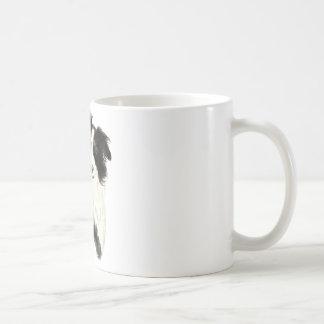 Custom Name text Border Collie Dog Pet Coffee Mug