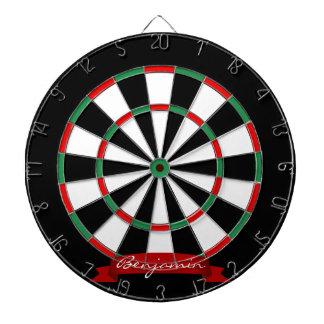 Custom Name Traditional Dartboard with Darts