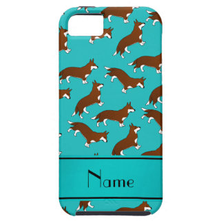 Custom name turquoise welsh corgi cardigan dogs iPhone 5 case