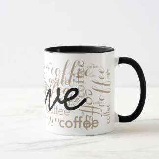 custom name typography mug