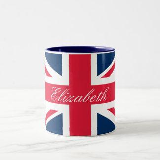 Custom Name Union Jack Mug