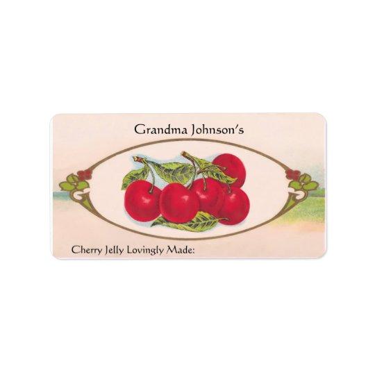 Custom Name Vintage Food Label
