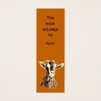 Custom Name Watercolor Old Goat Mini Business Card