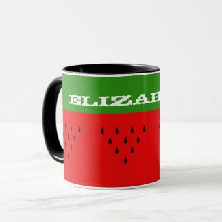 Custom Name Watermelon Mug
