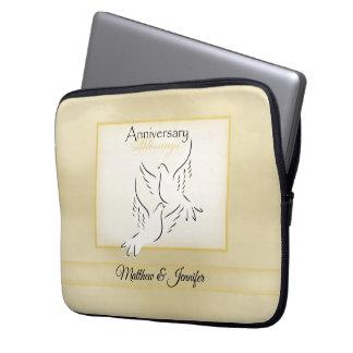 Custom Name, Wedding Anniversary Blessings Laptop Sleeve