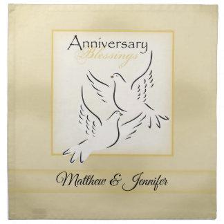 Custom Name, Wedding Anniversary Blessings Napkin